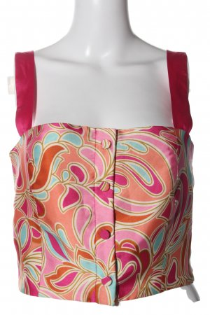 Zara Woman Trägertop pink-hellorange abstraktes Muster Party-Look