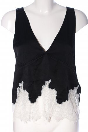 Zara Woman Trägertop schwarz-weiß Casual-Look
