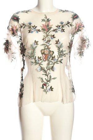 Zara Woman Transparenz-Bluse Blumenmuster Elegant