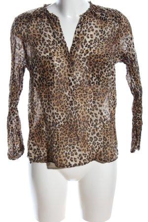 Zara Woman Transparenz-Bluse Allover-Druck Elegant