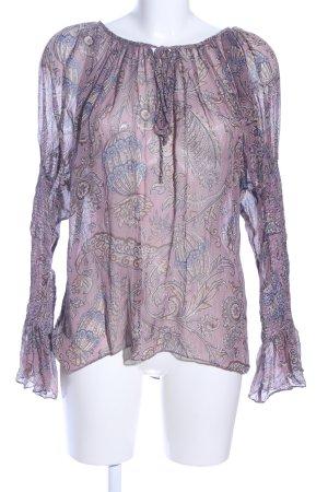 Zara Woman Transparenz-Bluse abstraktes Muster Elegant