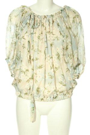 Zara Woman Transparenz-Bluse Allover-Druck Casual-Look