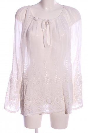 Zara Woman Transparenz-Bluse weiß Business-Look