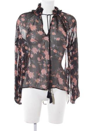 Zara Woman Transparenz-Bluse florales Muster Elegant