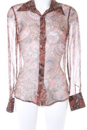 Zara Woman Transparenz-Bluse mehrfarbig Transparenz-Optik