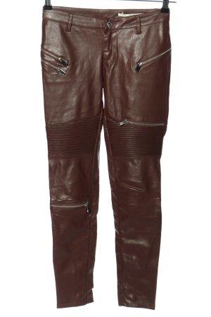 Zara Woman Treggingsy brązowy Poliester