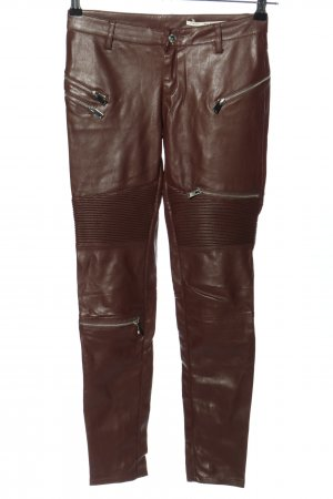 Zara Woman Treggings marrón Poliéster