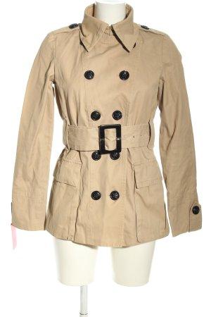 Zara Woman Trenchcoat wollweiß Casual-Look