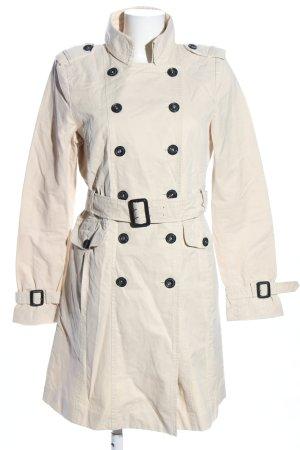 Zara Woman Trenchcoat wollweiß Business-Look