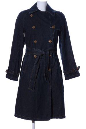 Zara Woman Trenchcoat blau Business-Look