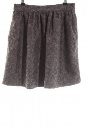 Zara Woman Tulpenrock braun Blumenmuster Casual-Look