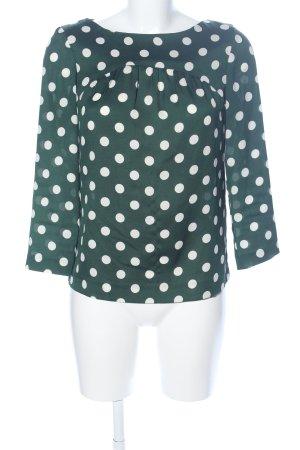 Zara Woman Tunikabluse khaki-weiß Punktemuster Casual-Look