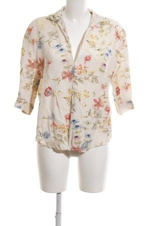 Zara Woman Tunikabluse Blumenmuster Casual-Look