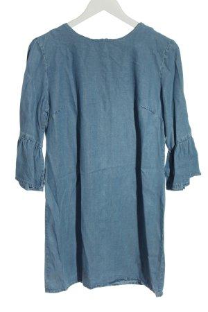 Zara Woman Tunikabluse blau Casual-Look