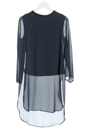 Zara Woman Blusa a tunica blu stile classico