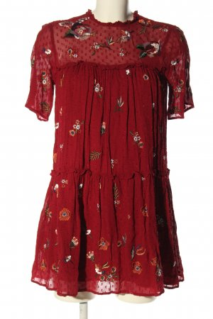 Zara Woman Tunikabluse Allover-Druck Elegant