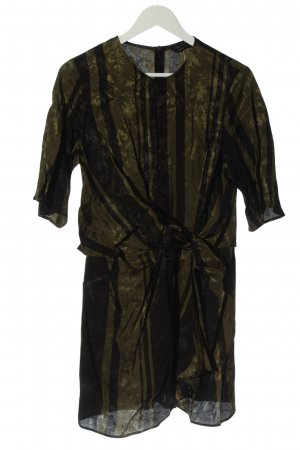 Zara Woman Tunikabluse khaki Streifenmuster Casual-Look