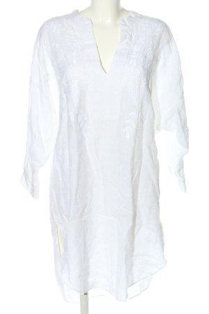 Zara Woman Tunikakleid weiß Blumenmuster Casual-Look