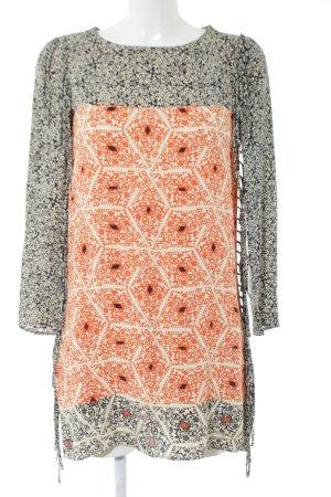 Zara Woman Tunikakleid abstraktes Muster extravaganter Stil