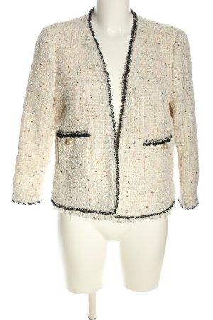 Zara Woman Tweedblazer wollweiß-schwarz Business-Look