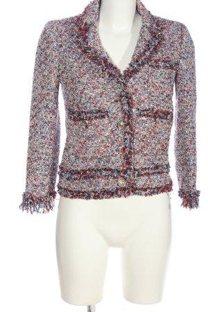 Zara Woman Tweedblazer weiß-rot Business-Look