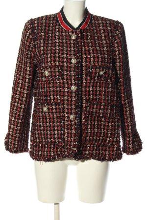 Zara Woman Blazer Tweed estampado repetido sobre toda la superficie look casual