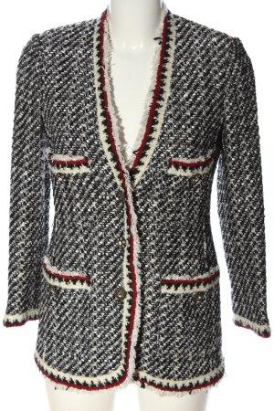 Zara Woman Blazer en tweed multicolore style décontracté
