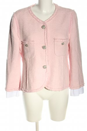 Zara Woman Tweed Blazer pink casual look