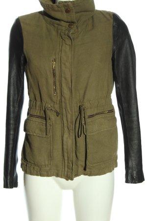 Zara Woman Übergangsjacke braun-schwarz Casual-Look