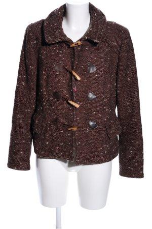 Zara Woman Übergangsjacke braun-weiß meliert Casual-Look