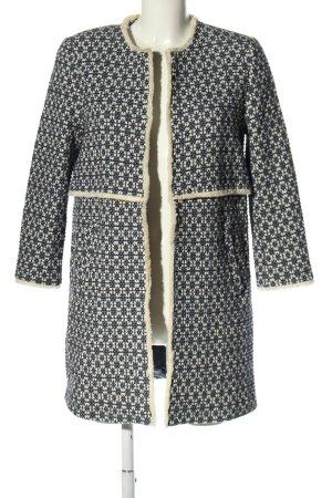 Zara Woman Übergangsjacke schwarz-wollweiß Allover-Druck Casual-Look