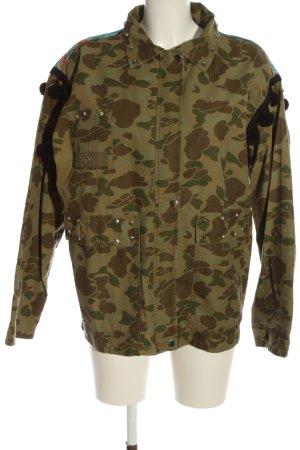 Zara Woman Übergangsjacke khaki Camouflagemuster Casual-Look