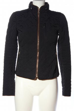 Zara Woman Übergangsjacke schwarz Steppmuster Casual-Look
