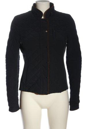 Zara Woman Kurtka przejściowa czarny Pikowany wzór Elegancki