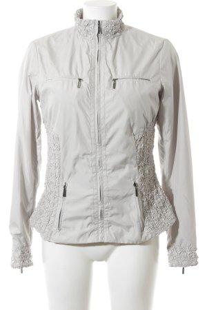 Zara Woman Übergangsjacke silberfarben-hellgrau Business-Look