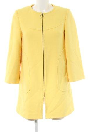 Zara Woman Übergangsmantel blassgelb Business-Look