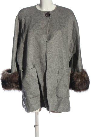 Zara Woman Übergangsmantel hellgrau-braun meliert Casual-Look