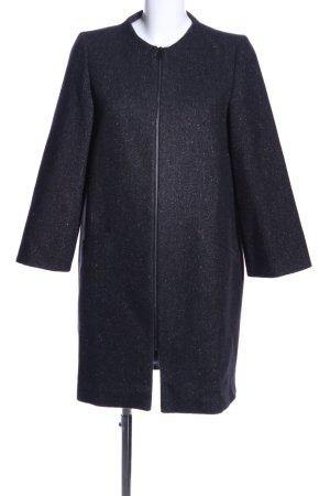 Zara Woman Übergangsmantel schwarz meliert Business-Look