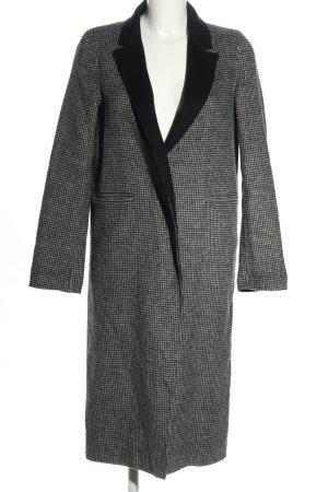 Zara Woman Übergangsmantel schwarz-weiß Allover-Druck Casual-Look
