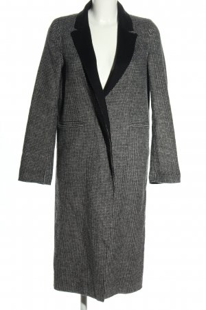 Zara Woman Übergangsmantel hellgrau-weiß Karomuster Business-Look