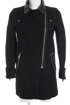 Zara Woman Übergangsmantel schwarz schlichter Stil