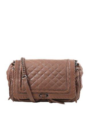 Zara Woman Umhängetasche braun Steppmuster Casual-Look
