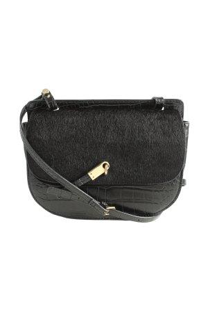 Zara Woman Umhängetasche schwarz Animalmuster Casual-Look