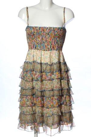 Zara Woman Flounce Dress allover print party style