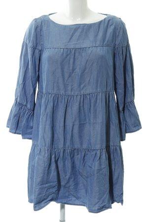 Zara Woman Volantkleid im Jeanslook mit Volants