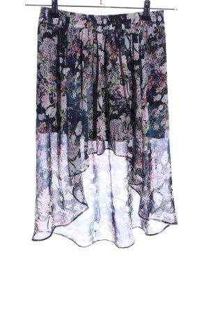 Zara Woman Spódnica z falbanami Wzór w kwiaty Elegancki