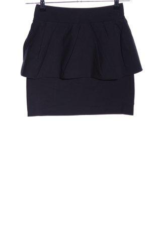 Zara Woman Falda con volantes negro look casual