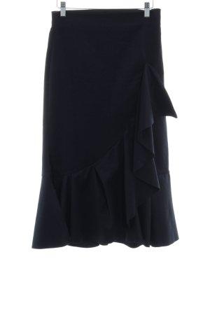 Zara Woman Volantrock dunkelblau Elegant