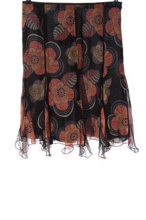 Zara Woman Jupe à volants imprimé allover style décontracté