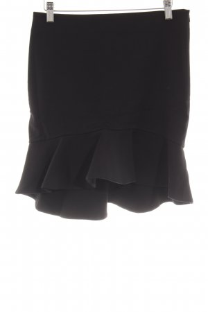 Zara Woman Volantrock schwarz Volantbesatz
